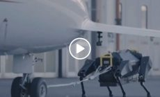 The terrifying moment a robot dog pulls a AIRPLANE