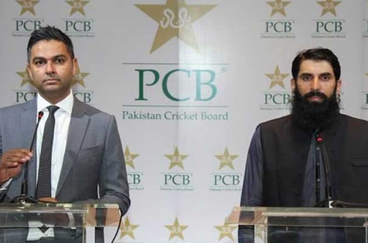 Misbah with Wasim Khan