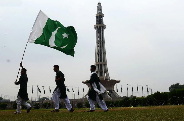 Pakistani with Flag