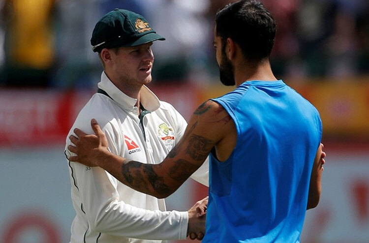 Smith with Kohli