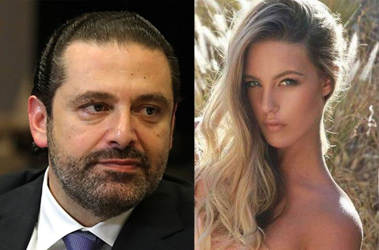 Candice Van with Saad Hariri