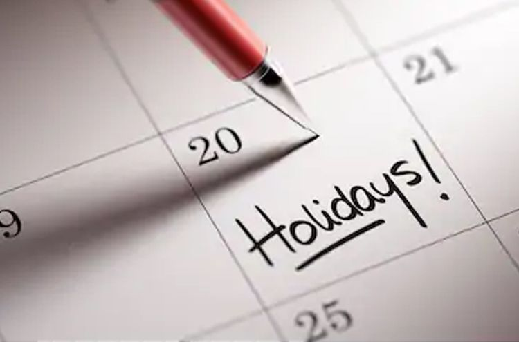 The Interior Ministry has released the holiday details for the year 2020
