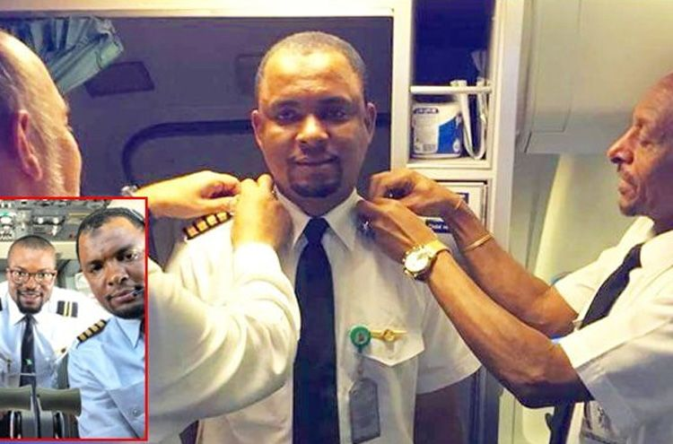 The plane cleaner became a pilot after 24 years