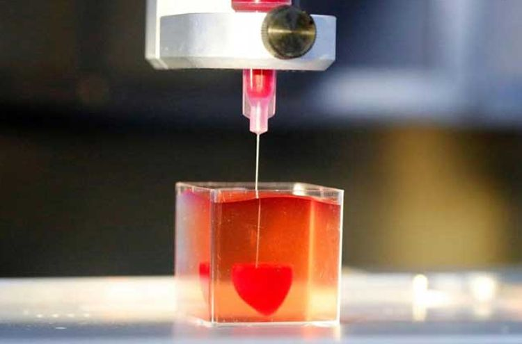 The human heart was created with a 3D printer