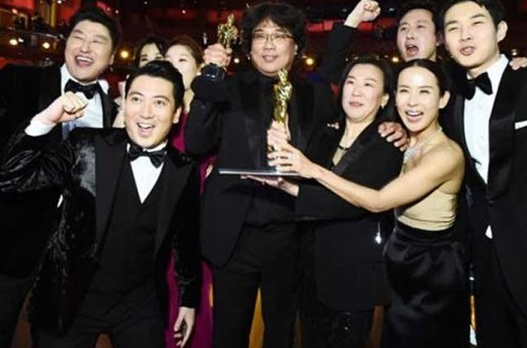 South Korean film 'Parasite' won the best oscars film award.