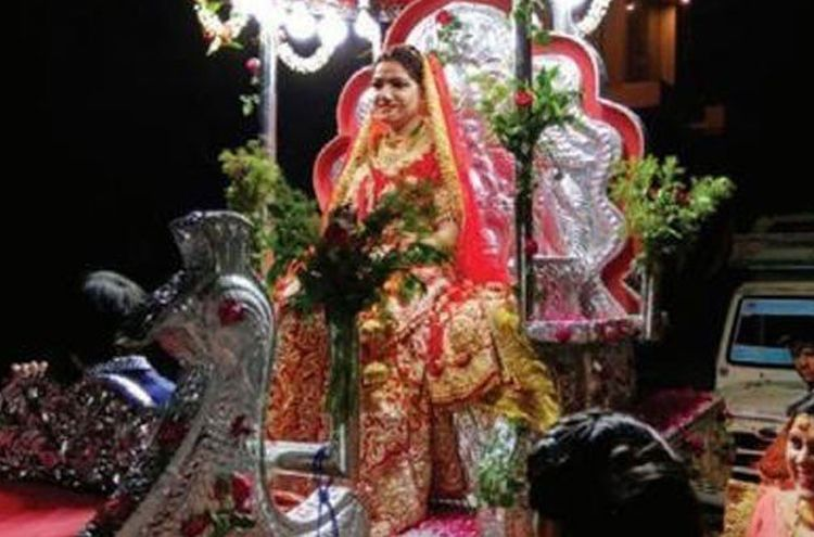 In India the bride arrived with Barat to take her groom