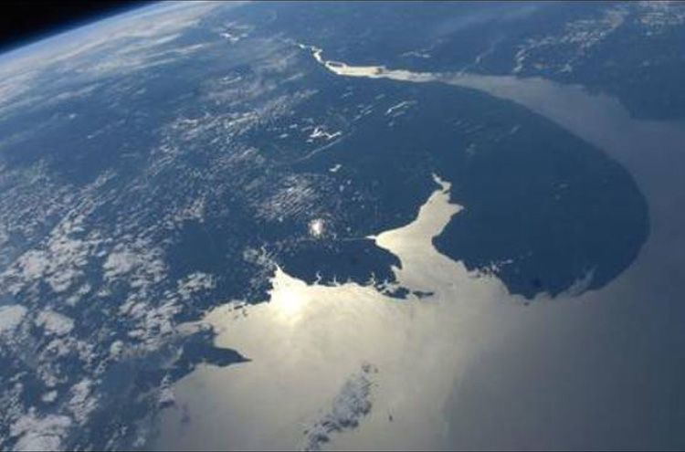 Take in the beautiful view of the Earth from the International Space Station