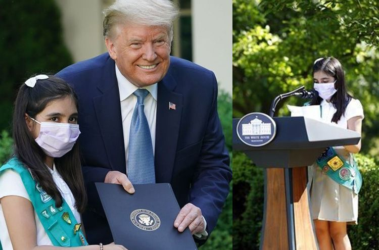 US President honored Pakistani student for working against Corona