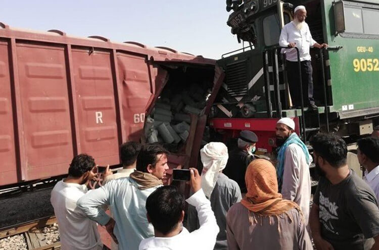 Shalimar Express and freight train collided