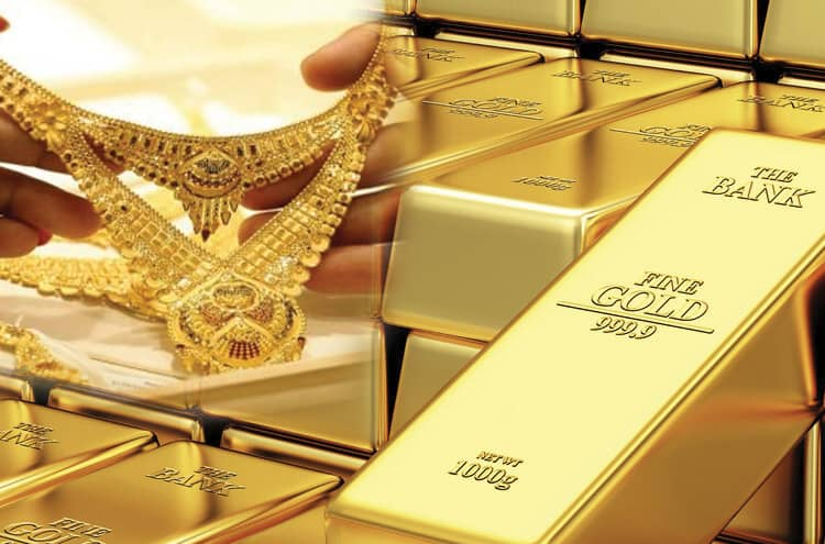 The price of gold dropped significantly